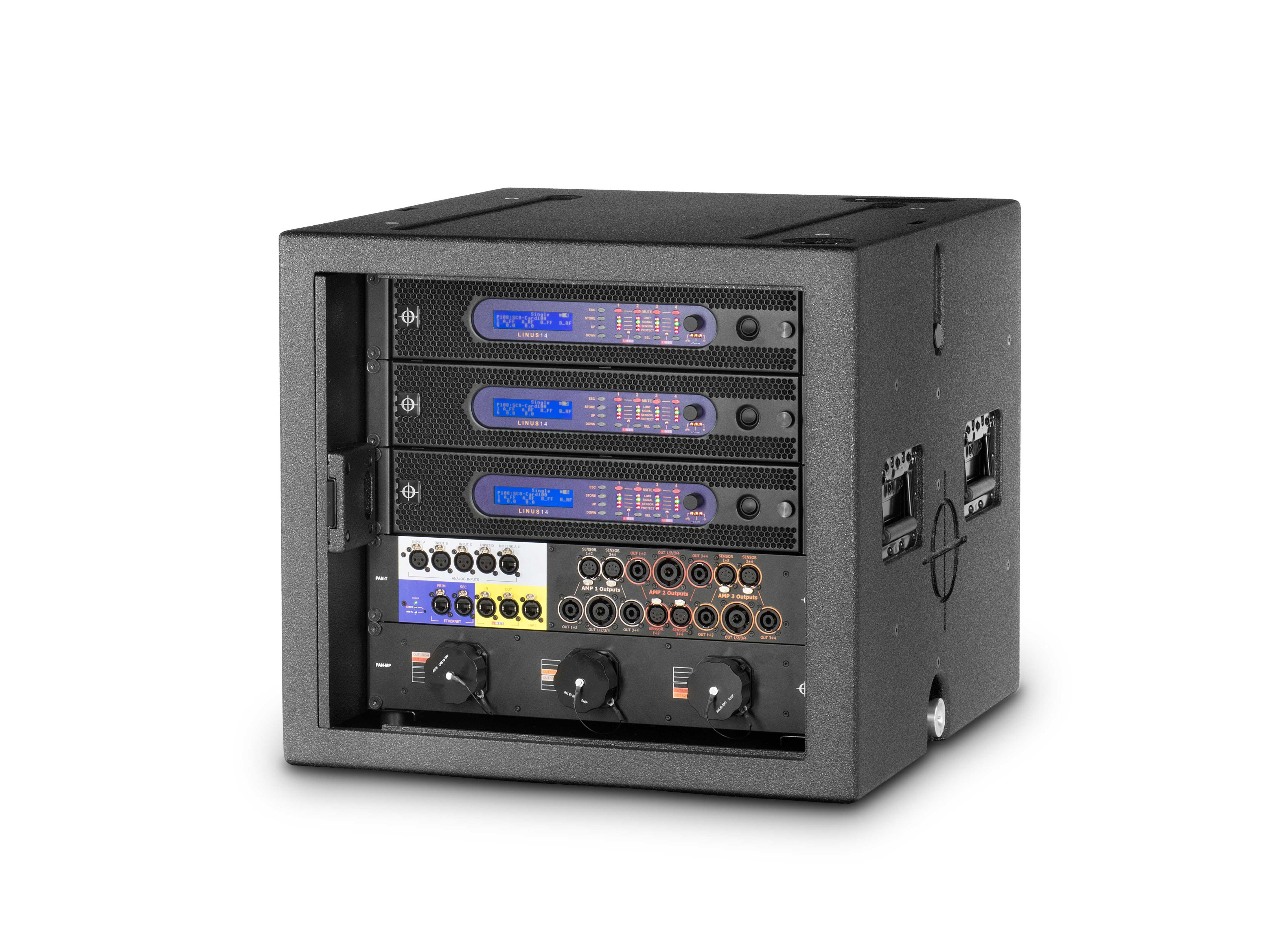 case black gliding odyssey with dj and platform all flight rack audio denon glide racks style