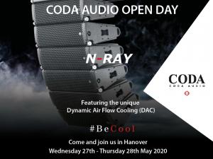 Coda CODA AUDIO Open Day 2020 – Postponed