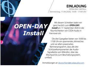 Coda CODA AUDIO Deutschland Open Day: Install (in German language)