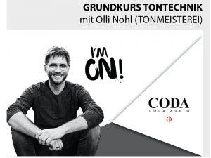 Coda Advanced Kurs Tontechnik mit Olli Nohl (Tonmeisterei) / Advanced Course Sound Engineering (in German language)